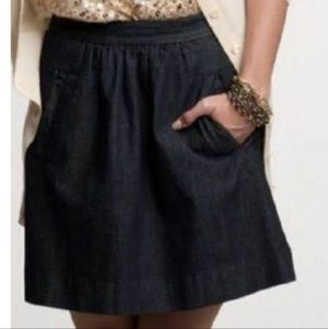 J.Crew Women Mini Indigo Denim Skirt